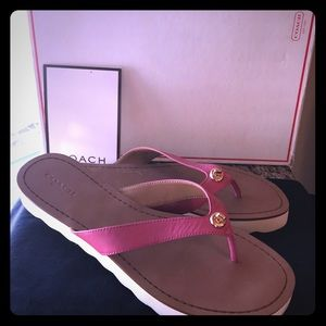 Coach pink sandals.